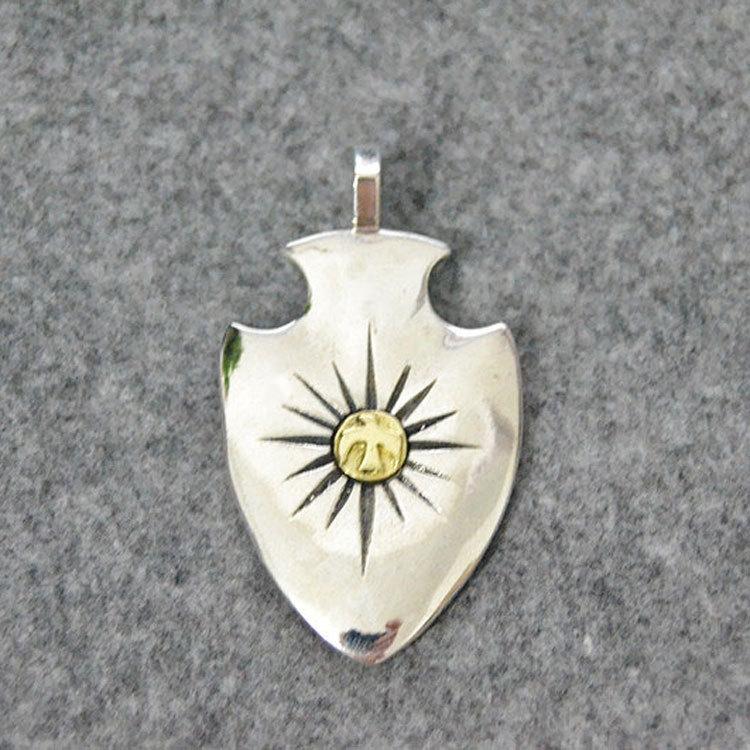 Sterling Silver Spear Necklace Pendant Male Creative Man Bird Hawk Pendant Punk hawk hktr101 36 d 91 см