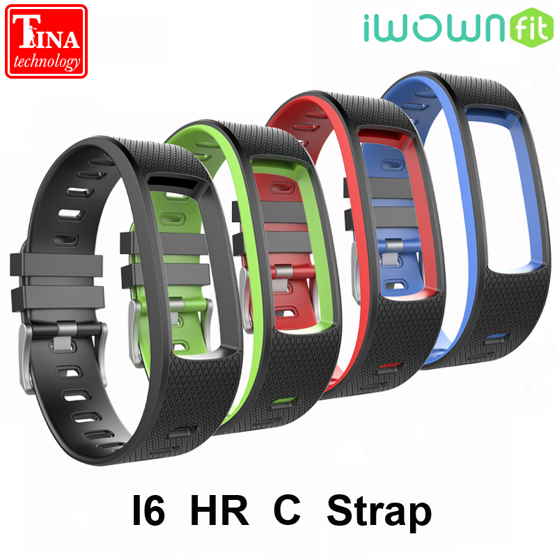 100% Original iwown I6 HR C Smart band Strap Silicone Replacement Wristbands Accessories for IWOWN IWOWNfit I6 HR C Bracelet