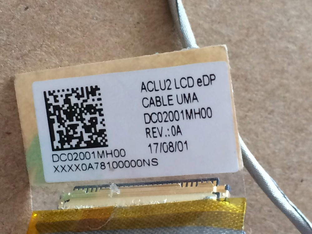For Lenovo G50-70 G50-30 G50-45 Z50-70 ACLU2 LCD EDP screen cable DC02001MH00 video wire