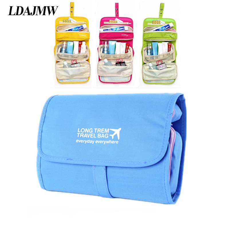 LDAJMW Hot Brand Business Trip Foldable Wash Make up Toiletry Cosmetic Storage bag Multifunction Hanging Traveling organizers