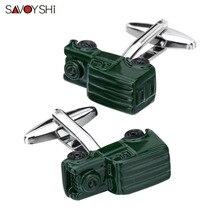 SAVOYSHI 3D Car Model Cufflinks for Mens Shirt Cuff buttons  High Quality Enamel Cuff Links Brand Fashion Jewelry Gift Gemelos