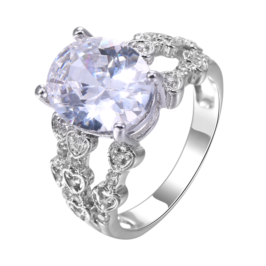 zhe fan clear purple champagne aaa cz cubic zircon ring fashion oval shape for female party - Purple Diamond Wedding Ring