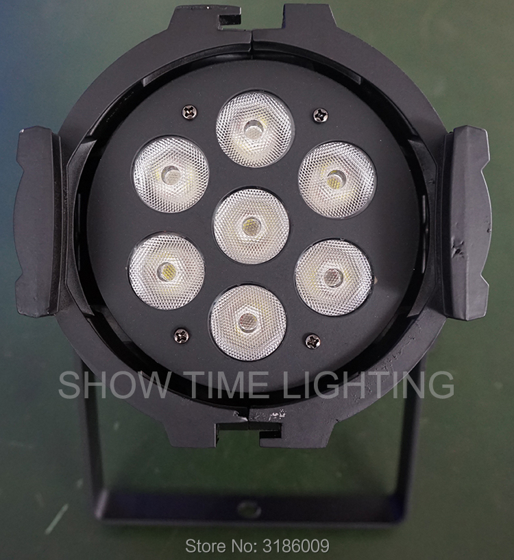 Free shipping 7pcs led lamp 4*15W RGBW 4 IN 1 DMX 512 Control Background color effect and for dancing or home entertainment