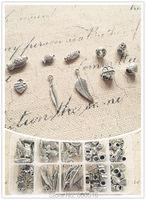 (Grote gat kralen & charme) 100 stks/set mix 10 stijl vintage zilveren sieraden bedels kralen bevindingen & accessoires