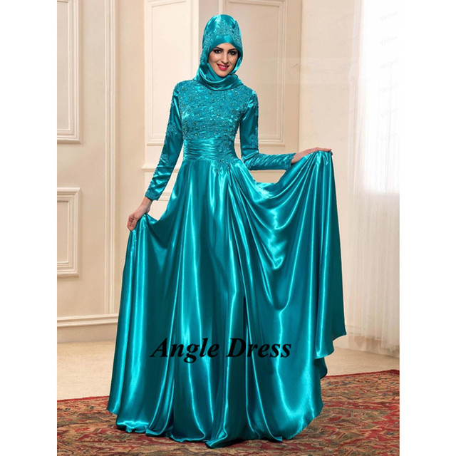 Aliexpress.com : Buy Elegant Muslim Evening Dress Hijab Long Dress ...