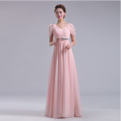 maternity long dresses plus size formal blush pink long bridesmaid ...