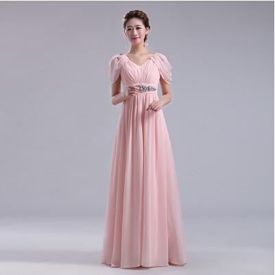 maternity long dresses plus size formal blush pink long bridesmaid ...