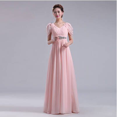 f0dbf4c604f54 maternity long dresses plus size formal blush pink long bridesmaid dress  for pregnant ladies size 14 party free shipping B1648