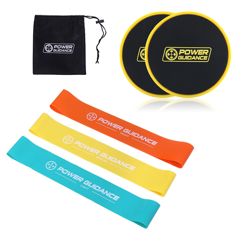 Set Of 2 Core Sliders Resistance Bands Set Dual Sided Gliding Discs Great For Core Training Home Workouts Fitness Exercise