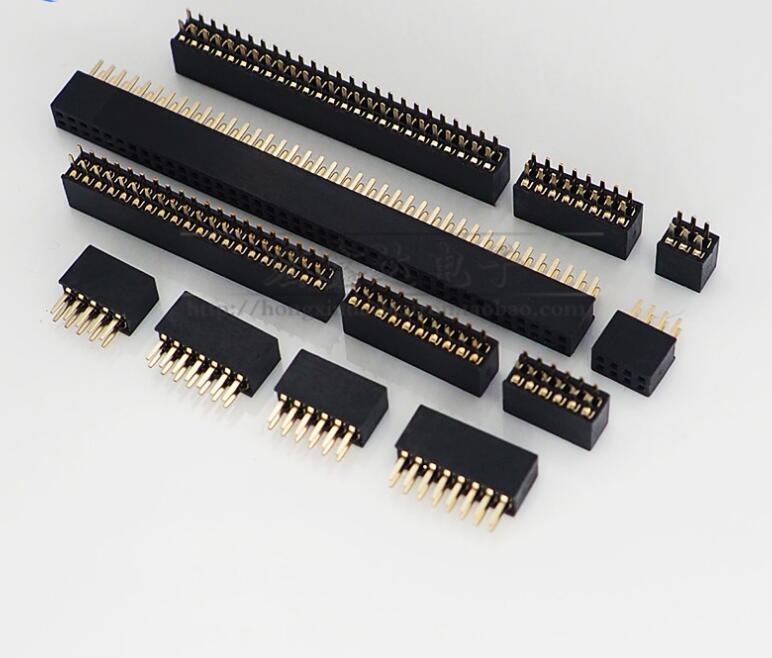 1.27mm Femelle double-Tête Connecteur 2*2 P/3 P/4 P/5 P/6 P/7 P/8 P/10 P/12 P/13 P/14 P/15 P/16 P/18 P/20 P/24 P/25 P/30 P/40 P femelle rangée rangée de sièges