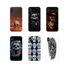 Voor Apple iPhone X XR XS MAX 4 4 S 5 5 S 5C SE 6 6 S 7 8 plus ipod touch 5 6 Accessoires Shell Covers bloem Schedel Dame Man Geschilderd(China)