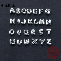 CARA New Arrival 925 Sterling Silver Alphabet Pendant Necklace Letter T Z Charm Necklace For Ladies