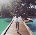 Mono de las mujeres mariposa de encaje Mamelucos atractivos de Las Mujeres Señoras Del Verano elegante hombro blanco de estilo de la moda de ropa 2017