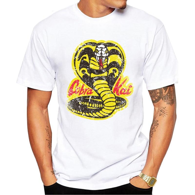 Cobra Kai Dojo Men T-Shirt Fashion Karate Kid Printed Tee Shirt Short Sleeve Funny Tops Cool Design GEEK T Shirts