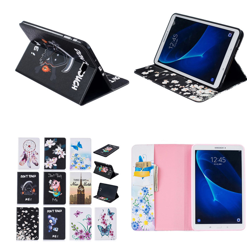 BF Cartoon Cute Design Flip PU Leather Book Case Cover for Samsung Galaxy Tab A 10.1 T580 T585 SM-T580N With Soft TPU Back Shell