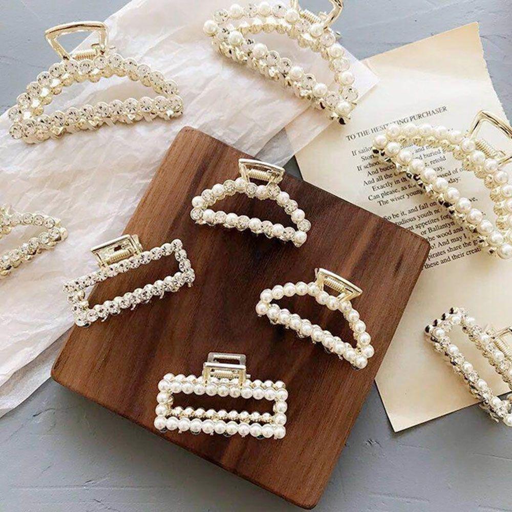 Fashion Women Pearl Hair Accessories Hairpins Crab Clips Retro Mini Butterfly Hair Claw Clip Headband For Lady Girls Hot Sale