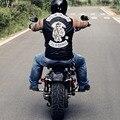 Sons of Anarchy Chaquetas Sin Mangas Chalecos Anti Social Social Harley Chaleco De Cuero Bombardero Motor De La Motocicleta Punky de La Pu Leathe Soa10 EE