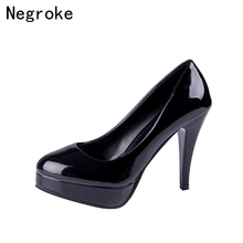 Shallow Mouth Pumps Stiletto Heels Rubber Sole Round Toe Women Shoes Casual New High-Heeled Shoes  Simple Comfort Zapatos Mujer цена