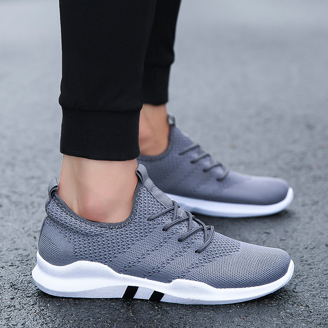 2018 Knit Running Shoes Men Free Outdoor Sport Shoes For Man White Athletic Laces Light Running Shoes For Male Fintness  2