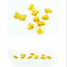 Machine Cutting 1000pcs Yellow Color 14mm Butterfly Beads Chandelier Beads in Middle Hole Can Make Diy Gift to Convey Mind(China)