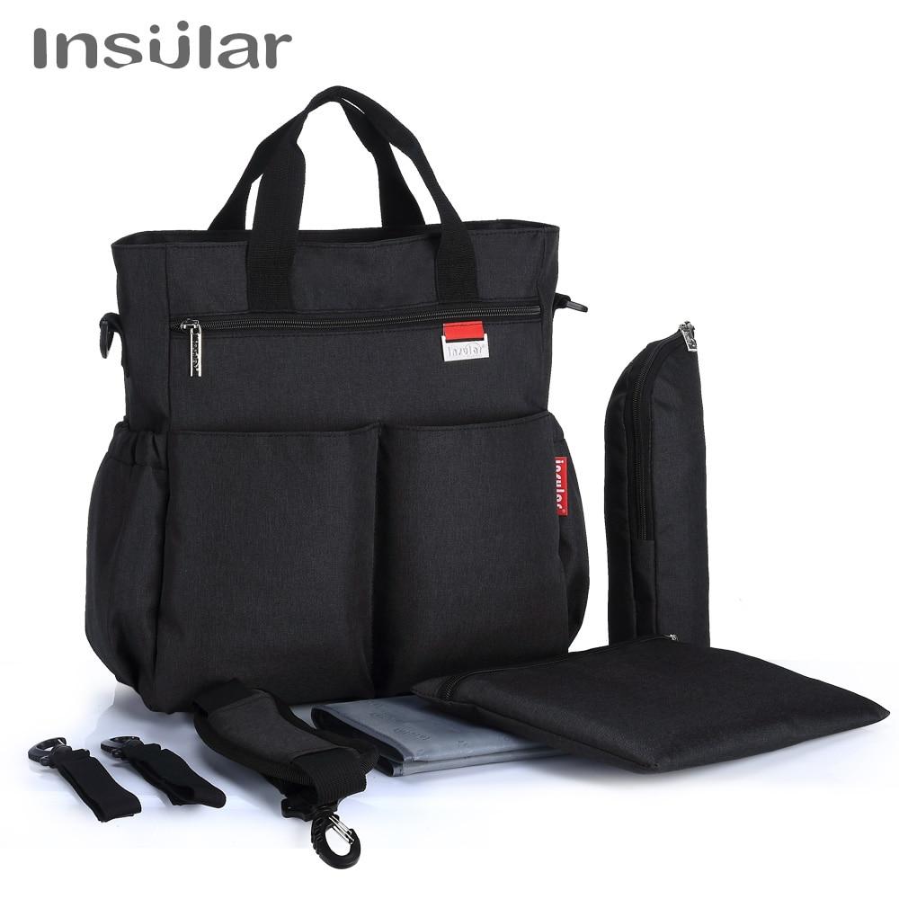 Insular Brand Large Capacity Dot Style Baby Nappy Care Handbag Nylon Waterproof Maternity Mummy Diaper Bag Baby Strollers Bags