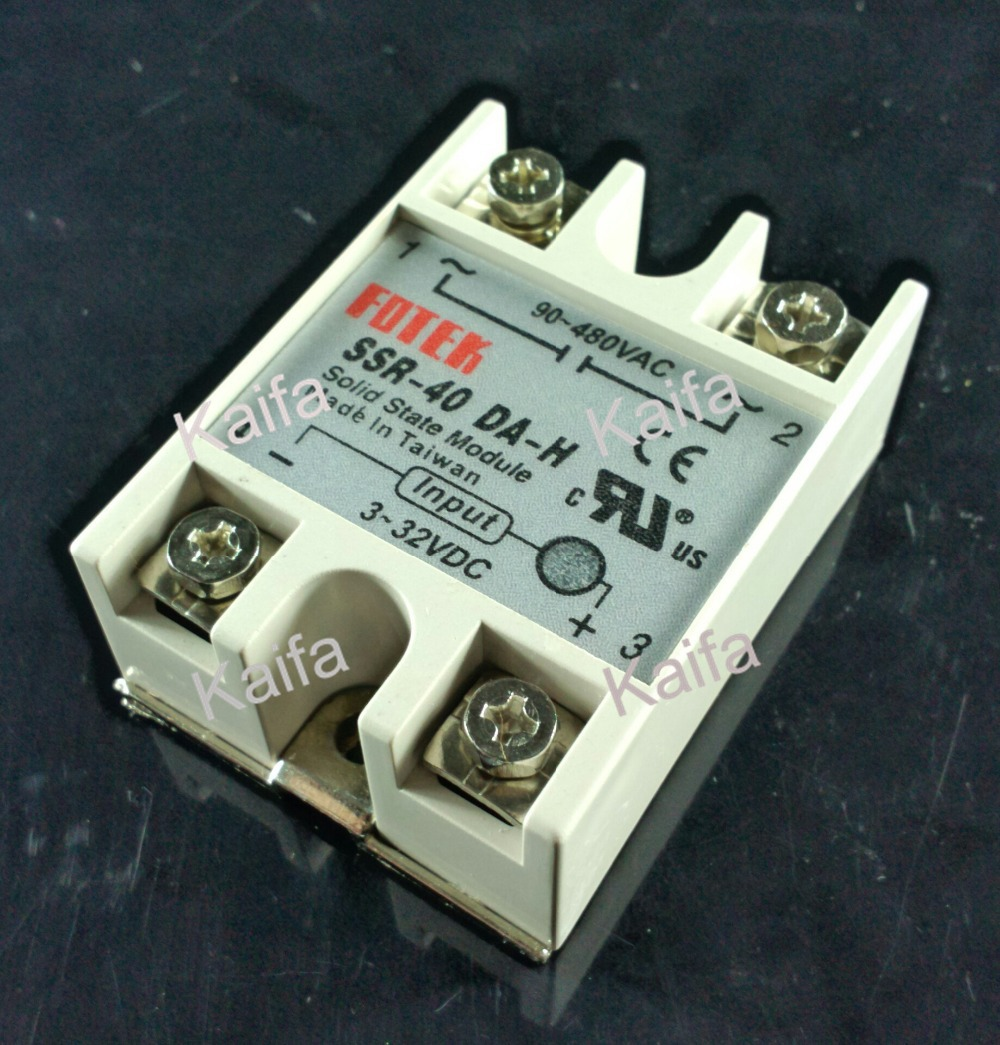 solid state relay SSR-40DA-H 40A actually 3-32V DC TO 90-480V AC SSR 40DA H relay solid state Resistance Regulator мат плата для пк msi b250m pro vdh socket 1151 b250 4xddr4 1xpci e 16x 2xpci e 1x 6xsataiii matx retail