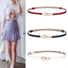 Genuine Leather Belts Waistband Adjustable Pearl Belt Female Simple Dress Decorative Adjustable Luxury Fashion Gifts for Women