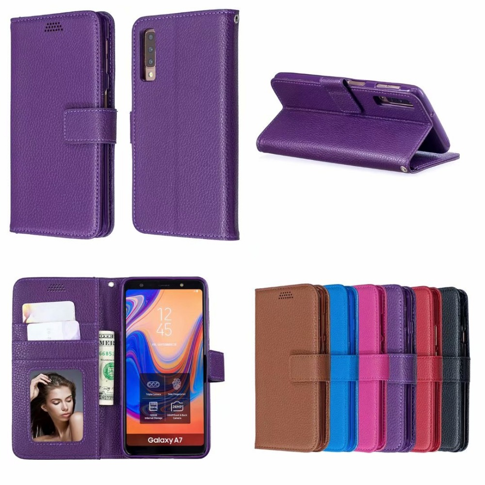 1pcs/lot Double Fold Lychee Leather PU+TPU Cover Case with Stand for Nokia 6 2018 2.1 3.1 5.1 7.1 Plus X6