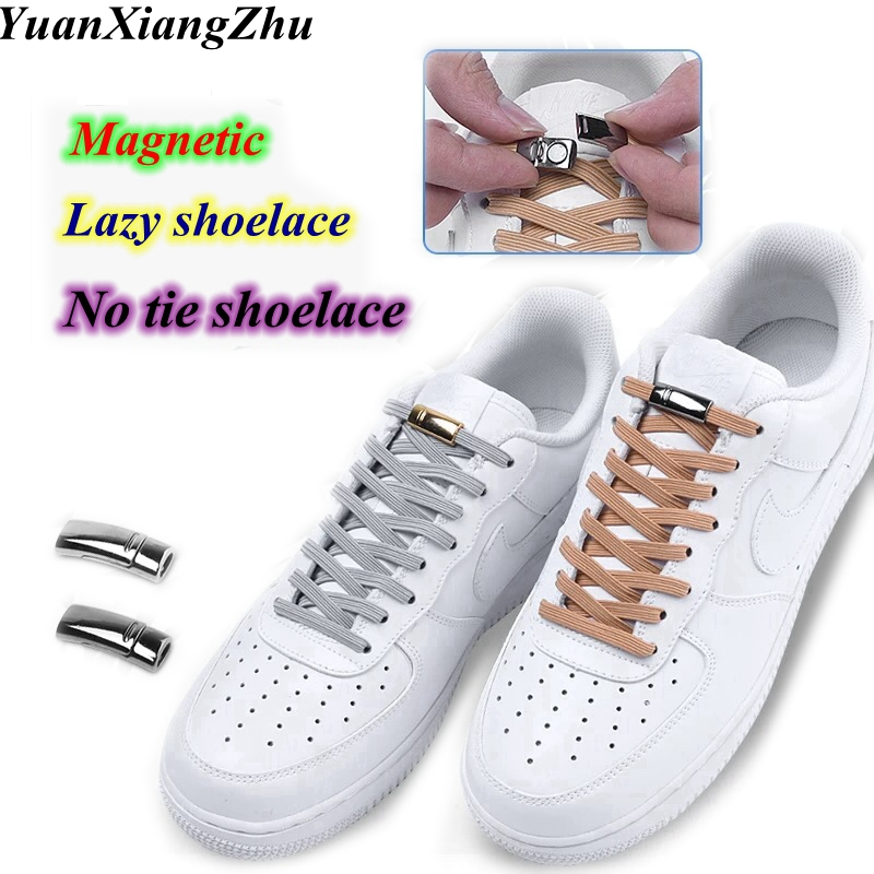 New Magnetic Locking ShoeLaces Quick Elastic No Tie Shoe laces Kids Adult Unisex Shoelace Sneakers Shoe Laces Strings 24colorsNew Magnetic Locking ShoeLaces Quick Elastic No Tie Shoe laces Kids Adult Unisex Shoelace Sneakers Shoe Laces Strings 24colors
