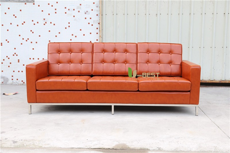 U-BEST FLORENCE KNOLL SOFA 3 SEATER BROWN (3)