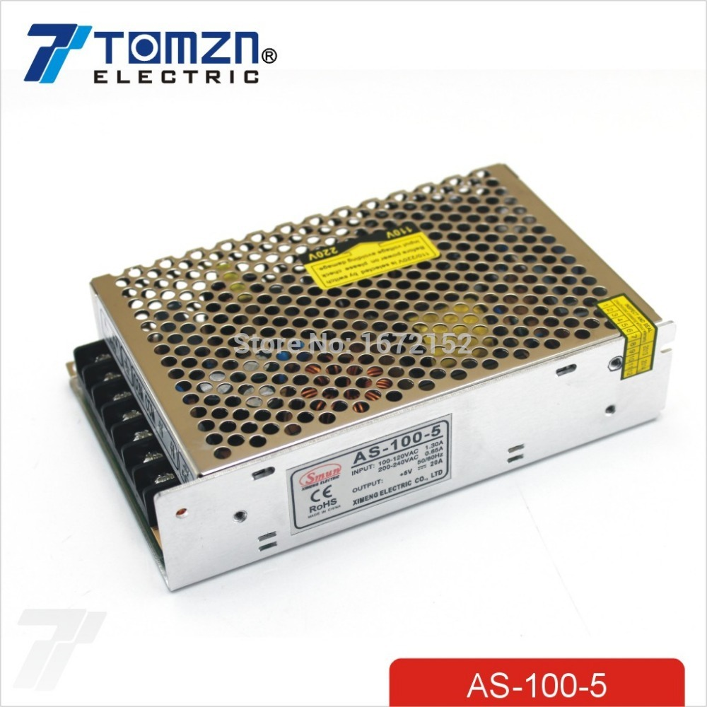 100W 5V Small Volume Single Output Switching power supply for LED Strip light single output high quality small volume