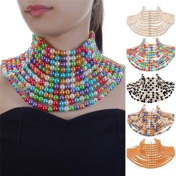 83ba26b65743 JEROLLI de moda hecho a mano de CCB gargantillas joyería cuello Collar  babero pares cadena collares