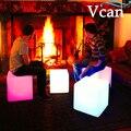 40*40*40 cm cores mudar controle remoto bateria de lítio recarregável Móveis Hot LED Light Up Praça cubo Cadeira Assento