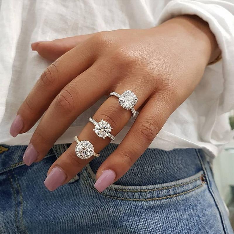 e19e75add Goedkope Ailend zirkoon kristallen ring vrouwelijke ring accepteren custom  sieraden gift 2019 populaire hot mode meisje