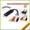 USB 2.0 placa de vídeo captura grabber Adaptador de STK007 chipset para TV VHS DVD ao apoio conversor usb Win7/MAC