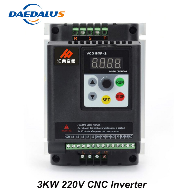 3KW 220V VFD Inverter Frequency Converter Controller 3KW 3HP Output 1HP Input For CNC Spindle Motor Milling Router
