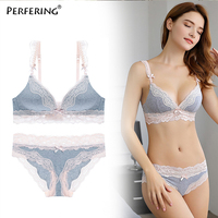 cd77829ba Wire Free Bra Set Bralette Push Up Bra Set Underwear Panty Intimates  Comfortable Ladies Bras Sexy