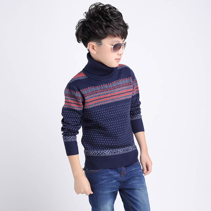 2018 Children's sweater for boys Children's clothing Winter new Keep warm Kids sweater Turtle collar and round collar sweater turtle neck sweater baby blumarine turtle neck sweater