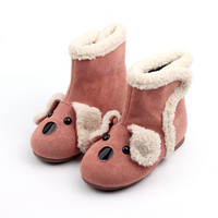 AMYMM Winter New Shoes Children S Solid Cartoon Cute Puppy S Snow Boys And Girls Warm