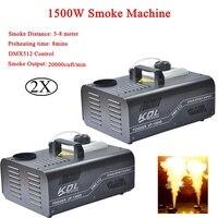 Диско сценическое оборудование 1500 Вт DMX дымовая машина с беспроводным удаленным распылением дыма эффекты для вечерние Клубные украшения на