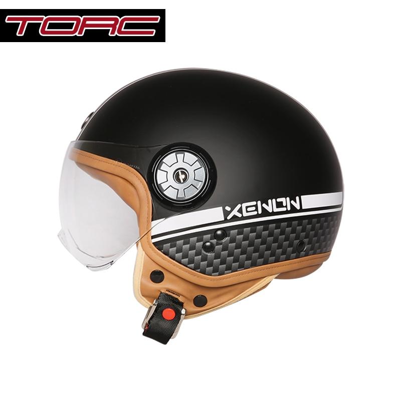 TORC V585 vintage motorcycle helmet open face retro helmet scooter DOT approved
