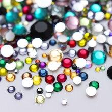 Kolorowe Kryształy Cyrkonie Różne Rozmiary 2000szt