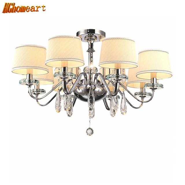hghomeart lustre cristal chandelier led modern luxury chandeliers suspension lamp shine light. Black Bedroom Furniture Sets. Home Design Ideas