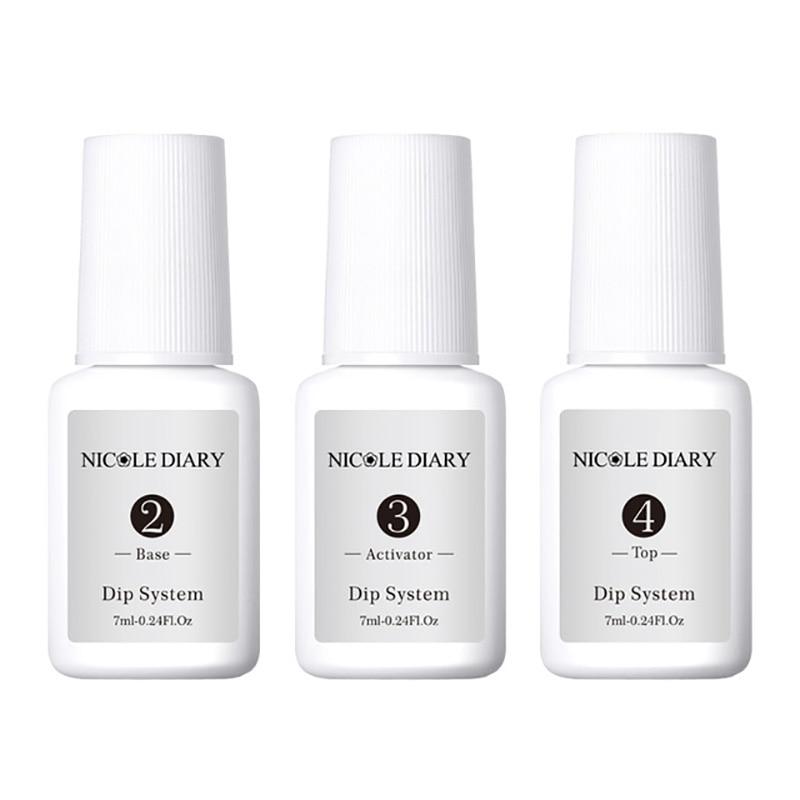 Image 3 - 4Pcs/Set Dipping System Nail Kit Dipping Nail Powder With Base Activator Liquid Gel Nail Color Natural Dry Without Lamp Nail-in Nail Glitter from Beauty & Health