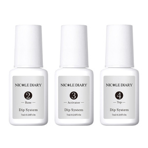 Image 3 - 4Pcs/Set Dipping System Nail Kit Dipping Nail Powder With Base Activator Liquid Gel Nail Color Natural Dry Without Lamp Nail