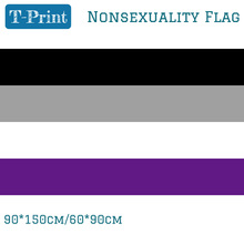 Free shipping Asexuality Nonsexuality Flag 3X5ft Polyester Banner Flying 150*90cm 60*90cm LGBT Flags