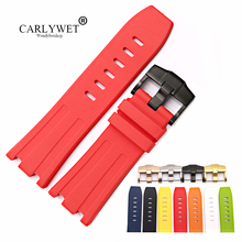 CARLYWET 28mm Wholesale Rubber Waterproof Watchbands Silicone Replacement Wrist Watch Band Strap Belt With Pin Buckle