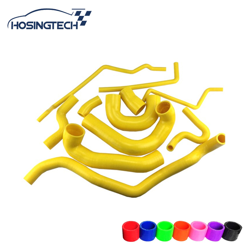 HOSINGTECH-for SAAB 9-3 2.0T 2002-2007 Turbo Silicone Coolant Hose Yellow 11pcs