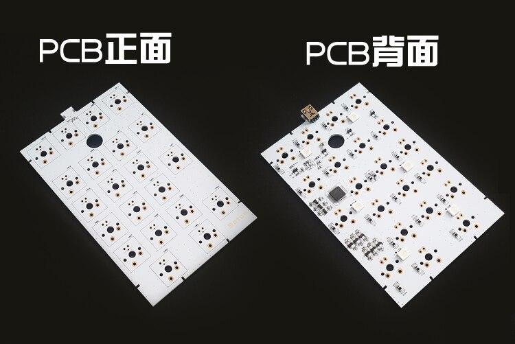 Kit de numpad Satan Kit de clavier numérique RGB PCB clavier mécanique kit de bricolage 21 Kit de clé cerise mx brun argent gateron clair