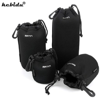 kebidu Waterproof Universal Matin Neoprene Soft Video Camera Lens Pouch Bag Case Full Size S M L XL For Canon Nikon Sony Newest(China)
